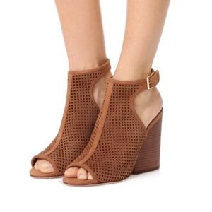 NEW Tory Burch Jesse Perforated Open-Toe Bootie